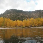 The Clark Fork River in the Fall